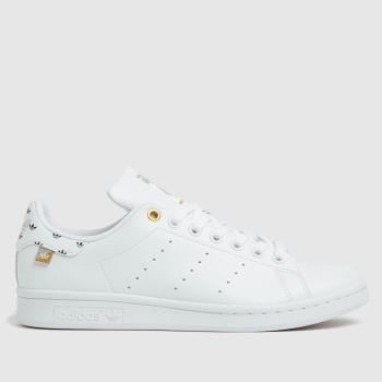 adidas White & Gold Stan Smith Primegreen Womens Trainers