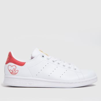 adidas White & Pink Stan Smith Primegreen Womens Trainers