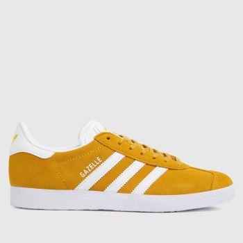 adidas Yellow Gazelle Womens Trainers