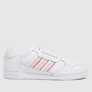 adidas White & Pink Continental 80 Stripe Womens Trainers