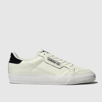 adidas white & black continental 80 vulc trainers