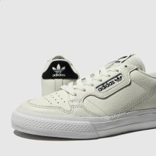 8c3e043bd0 adidas white & black continental 80 vulc trainers