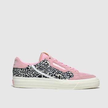 adidas black & pink continental vulc trainers