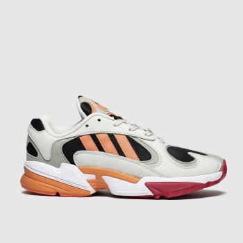 adidas black & orange yung-1 trainers