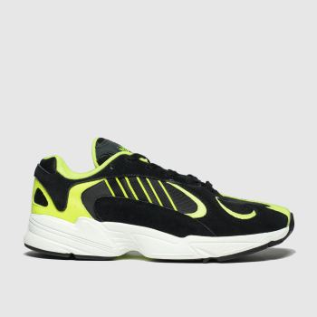 Adidas Black & Green Yung-1 Womens Trainers