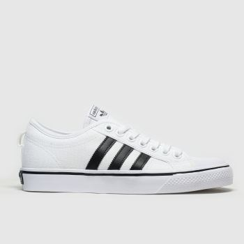 Adidas White & Black Nizza Womens Trainers