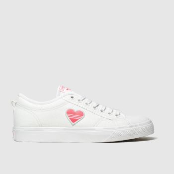 Adidas White & Red Nizza Womens Trainers