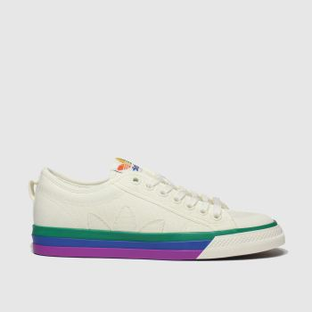 Adidas White & Red Nizza Pride Womens Trainers