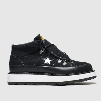 Converse Black & White One Star Boot Trainers