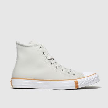 Converse Grey All Star Faux Shearling Hi Womens Trainers