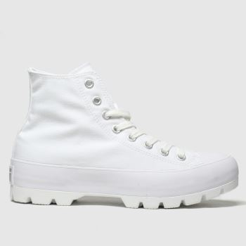 Converse White Lugged Hi Womens Trainers
