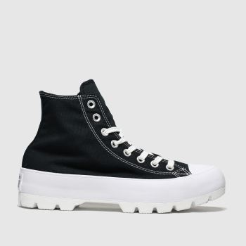Converse Black & White Chuck Taylor All Star Lugged Womens Trainers