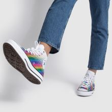 converse white & pink all star kaleidoscope hi trainers