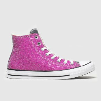 Converse Pink All Star Galaxy Dust Hi Womens Trainers