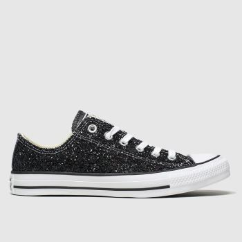Converse Black All Star Galaxy Dust Ox Womens Trainers