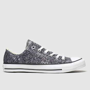 Converse Silver All Star Galaxy Dust Ox Womens Trainers