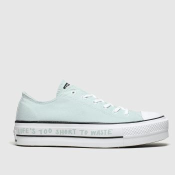 converse pale blue all star renew lift trainers