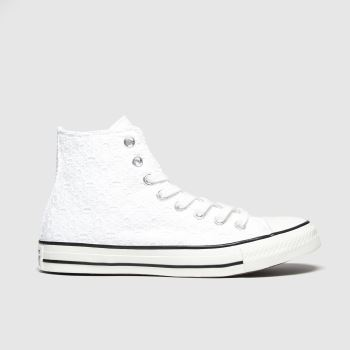 Converse White All Star Boho Mix Hi Trainers