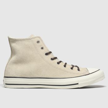 Converse Natural All Star Sherpa Hi Womens Trainers