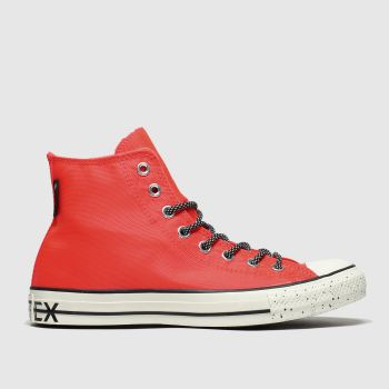 Converse Orange All Star Gore Tex Hi Trainers