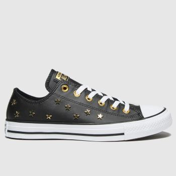 Converse Black & Gold Star Stud Ox Womens Trainers