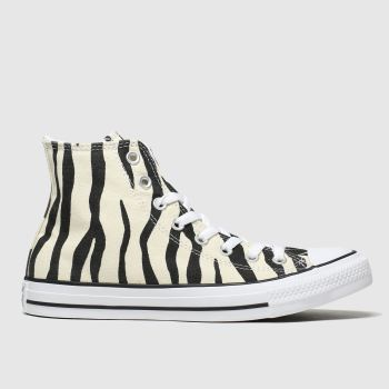 Converse Black & White All Star Zebra Print Hi Womens Trainers