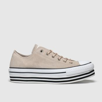 Converse Nude All Star Layer Bottom Ox Womens Trainers