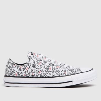 Converse White & Black Keith Haring Ox Womens Trainers