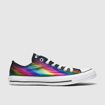 Converse Black & Blue All Star Kaleidoscope Ox Womens Trainers