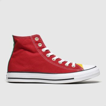 Converse Red & Blue All Star Hi Colour Block Womens Trainers