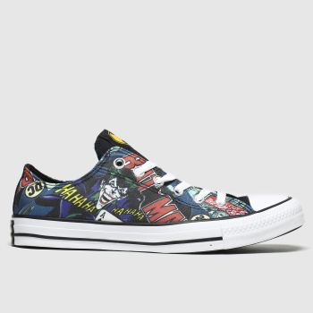 Converse Black & Navy  All Star Ox Batman Womens Trainers