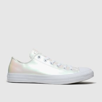 Converse White All Star Ox Iridescent Womens Trainers