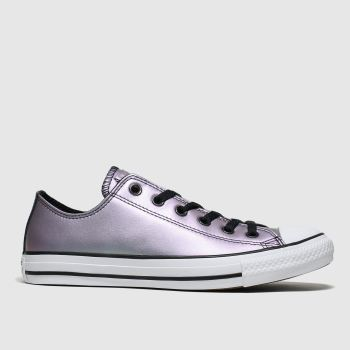Converse Purple All Star Ox Iridescent Womens Trainers