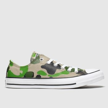 Converse Khaki Ox Camo c2namevalue::Womens Trainers