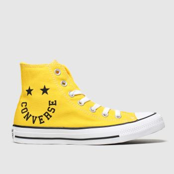 Converse Yellow Hi Smile Womens Trainers