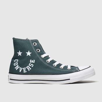 Converse Dark Green Hi Smile Womens Trainers#