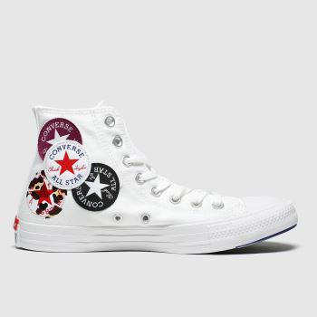 Converse White & Black Hi Logo Play Womens Trainers