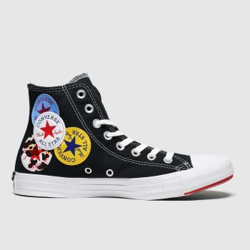 Converse Black & White Hi Logo Play Womens Trainers