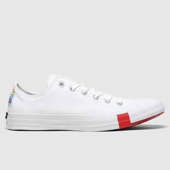 Converse White Ox Logo Play Womens Trainers
