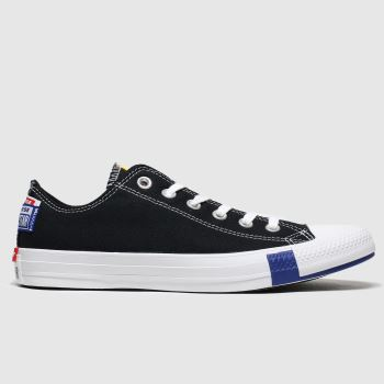 Converse Black & White Ox Logo Play Womens Trainers