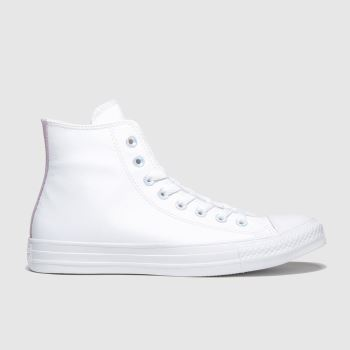 Converse White & Pink All Star Hi Summer Iridescent c2namevalue::Womens Trainers