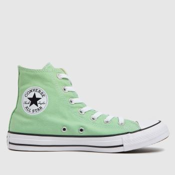 Converse Light Green All Star Hi Womens Trainers