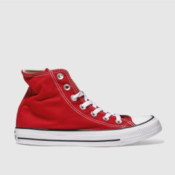 Converse Red All Star Hi c2namevalue::Womens Trainers