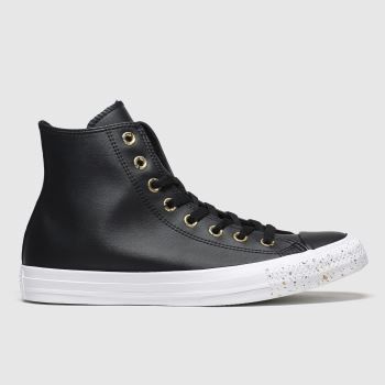 Converse Black & Gold Hi Precious Metal Womens Trainers