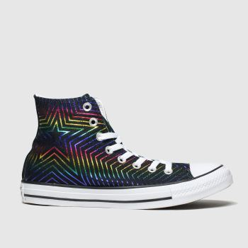 Converse Black & Green All Star All The Stars Hi Womens Trainers