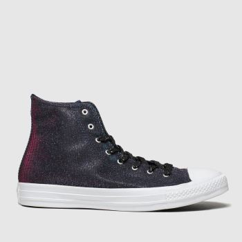 Converse Black & pink All Star Starware Hi Womens Trainers