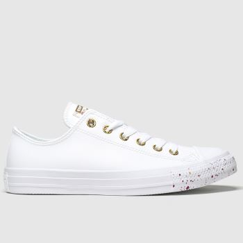 Converse White & Gold Ox Precious Metal Womens Trainers