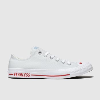 Converse Light Grey Love Canvas Ox Womens Trainers