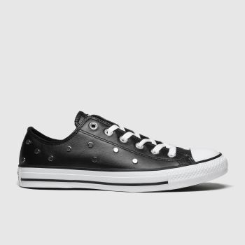 Converse Black & Silver All Star Stud Ox Womens Trainers
