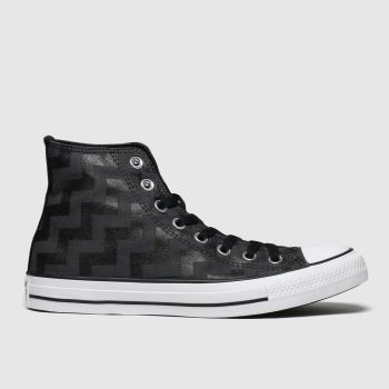 converse black all star glam dunk hi trainers